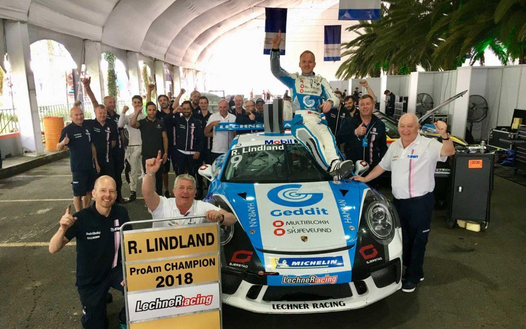 Lindland vant ProAm-mesterskapet i Porsche Supercup