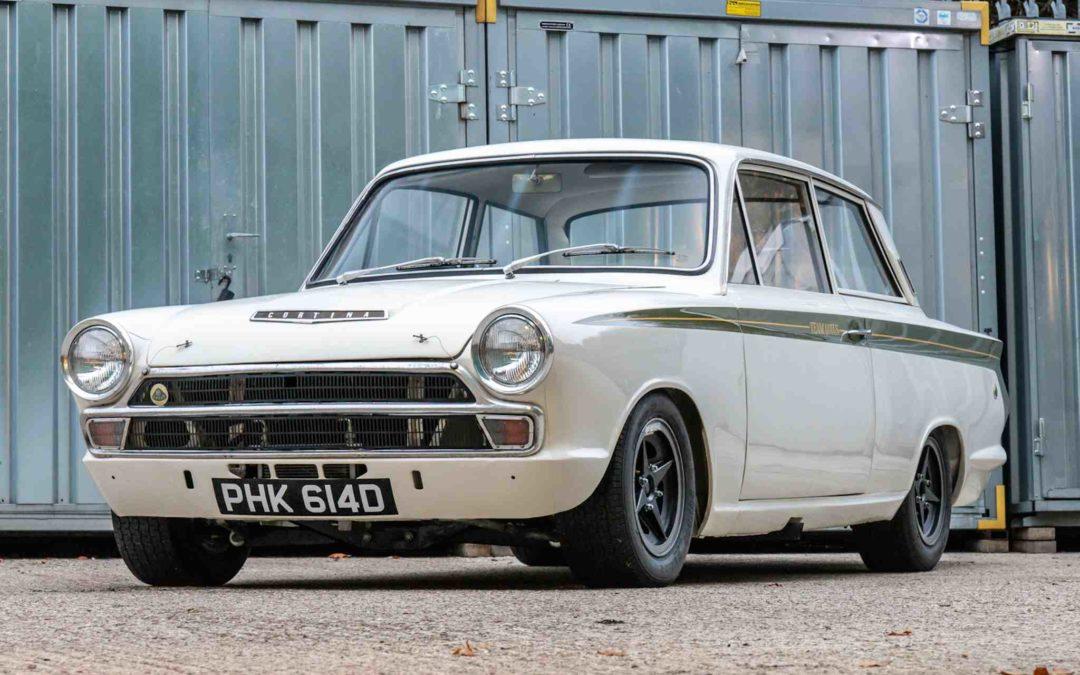 1966 Ford Lotus Cortina fabrikkracer på auksjon