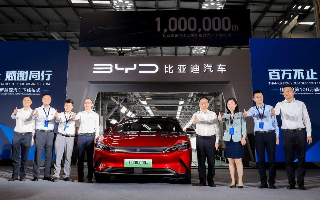 BYD har passert én million elektrifiserte biler
