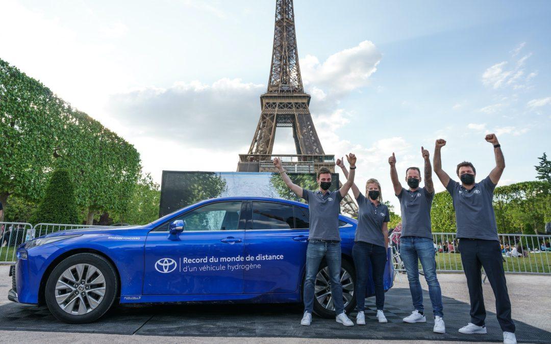 Hydrogenbilen Toyota Mirai setter verdensrekord